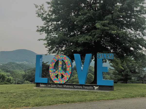 Salems LOVE Sculpture In The Virginia Is For Lovers Campaign Can Be Used Somewhere In The Site